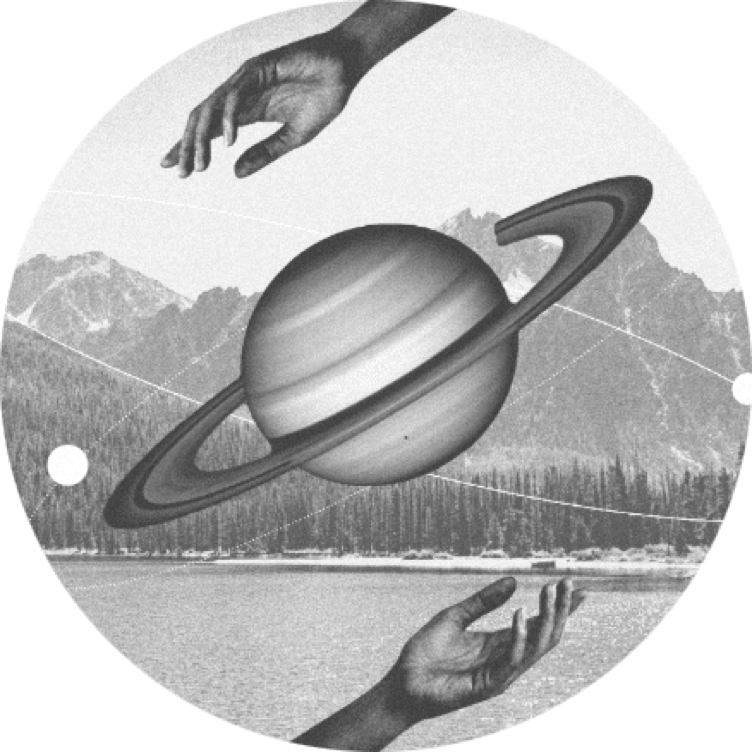 Planet and hands