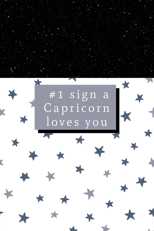 The Sign a Capricorn Loves You